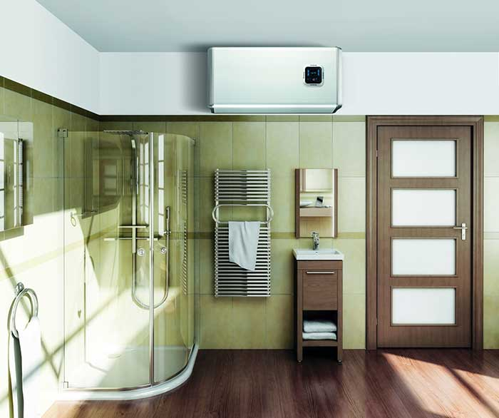 Boiler electric Ariston VELIS PLUS - Instalare orizontala
