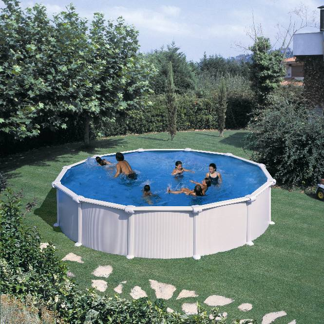 Piscina supraterana rotunda dream pool diametru 350 for Piscine hors sol kit enterree pas cher